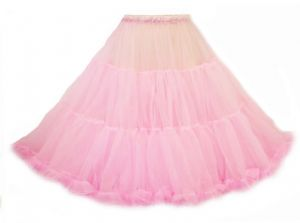 New Candy Pink Vtg 1950's style swishy Pin up Doll Prom Petticoat Skirt - 251014065574